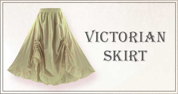 Victorian style maxi skirt with ruffled bottom and adjustable ruched tie strings on the front.100% Cotton