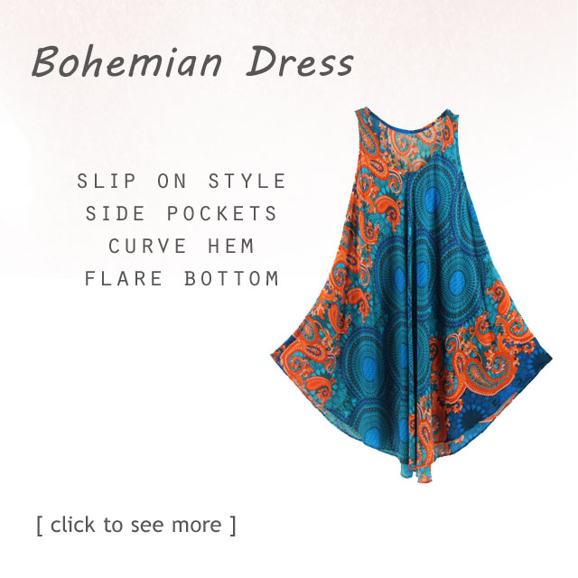Find Your Beautiful gorgeous dress with bohemian inspired printed motif