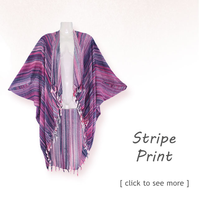 Shop brightly colored stipe printed jacket kimono