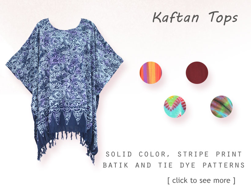 Find Your Beautiful women's Plus Size Batik & Tie Dye Kaftan Top Here