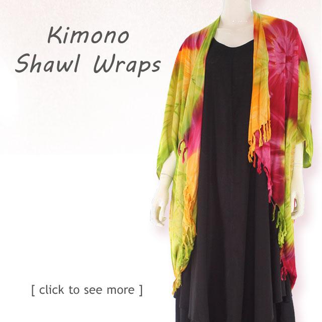 Tie Dye Kimono Shawl Wrap